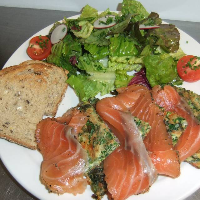 French spinach pancake w/ gravlax for brunch - Le Baratin, Toronto, ON