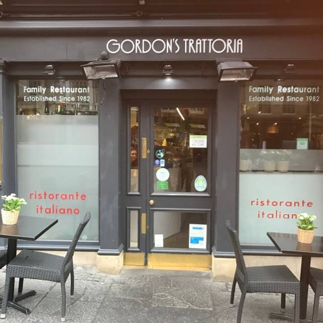 Gordon S Trattoria Restaurant Edinburgh Menu