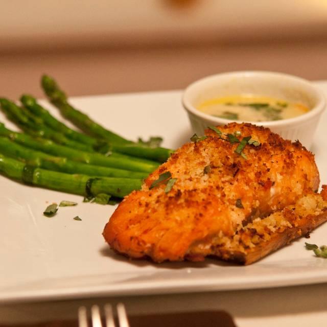 Cedar Plank Salmon - Cafe Flora, Steak-Italian, Palm Beach, FL