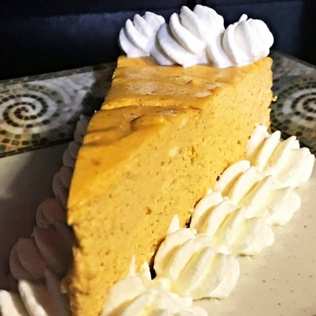 House-made Gluten-free Pumpkin Cheesecake - The Greenhouse Bistro & Venue, Homosassa, FL