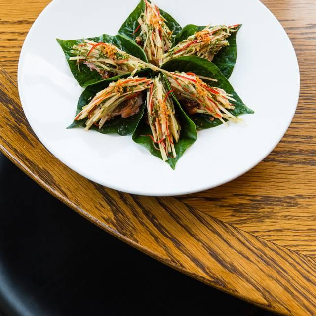 Betel Leaf, Smoked River Trout, Peanut, Green Papaya, Mint  Nikkito - Longrain Sydney, Surry Hills, AU-NSW