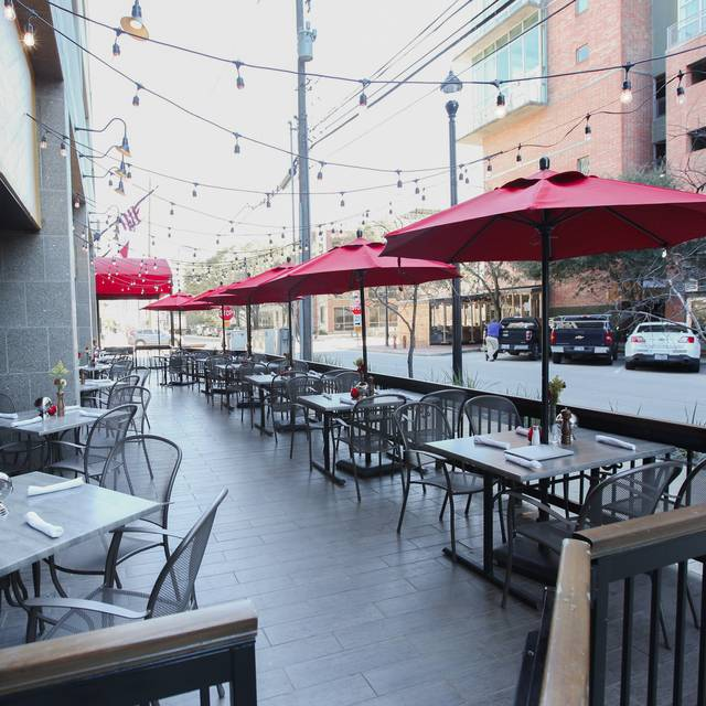 Shaded Outdoor Patio - Laurenzo's Bar & Grill, Houston, TX