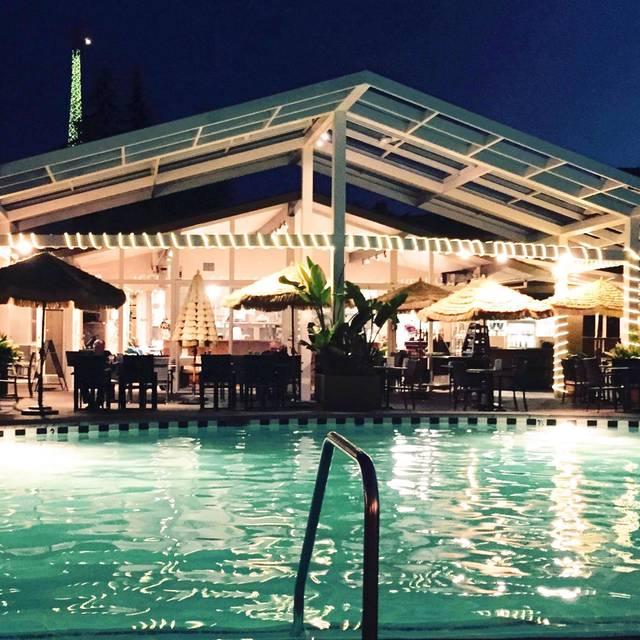 Poolside evening - Dinah's Poolside Restaurant, Palo Alto, CA