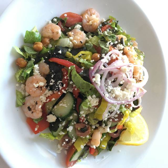 Greek Shrimp Salad - The Grove Wine Bar and Kitchen Downtown, Austin, TX