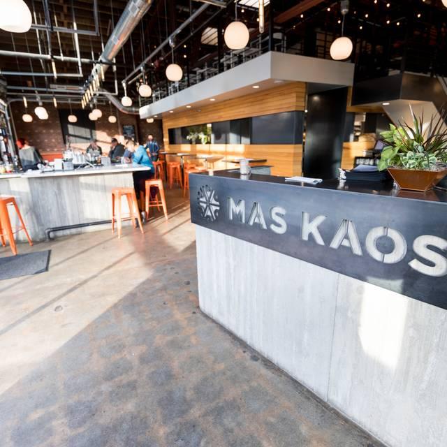 Host Stand Sign - Mas Kaos, Denver, CO