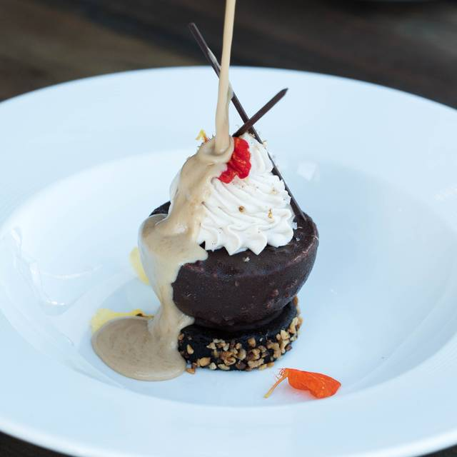 Valrhona caramelia frozen parfait - The Strand House, Manhattan Beach, CA