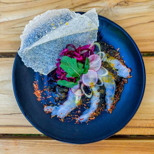 Shrimp-carpacio-with-caramel-maracuja-sauce-top - HiR Fine Dining, Pinilla, Guanacaste