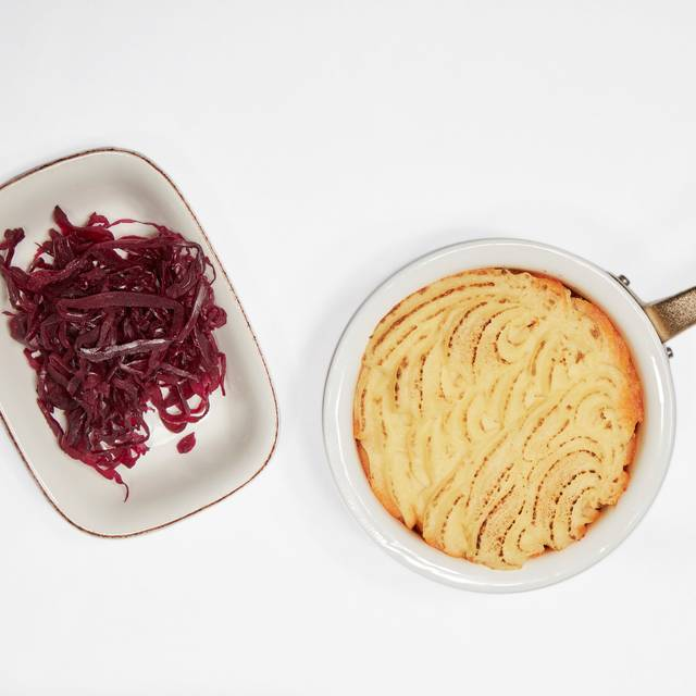 Shepherds Pie - Pickled Red Cabbage - GBR - Great British Restaurant @ Dukes London, London