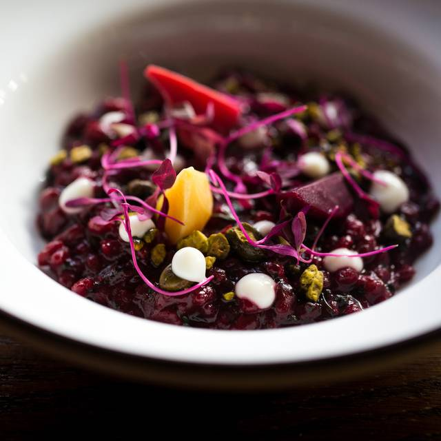 Beetroot  Spelt Risotto - The Hind's Head - Bray, Bray, Berkshire