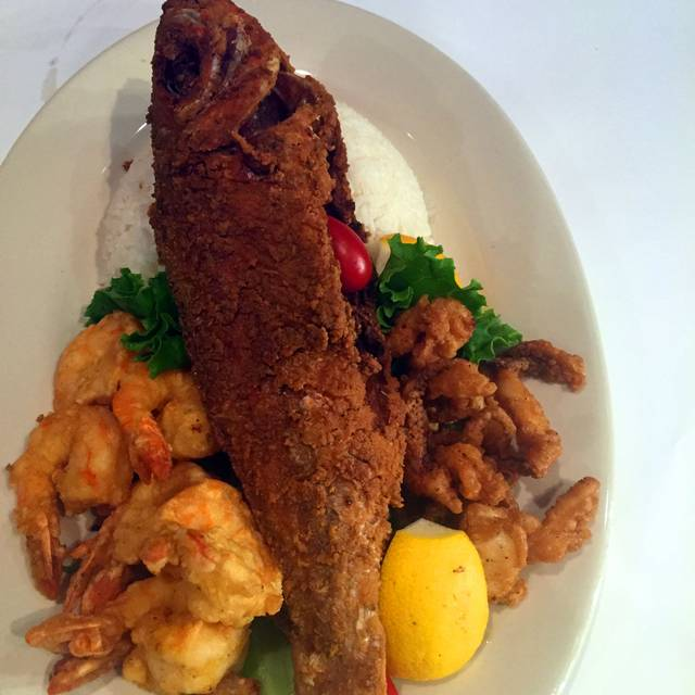 Whole Snapper And Shrimp Platter - Legend Cookhouse, South Ozone Park, NY