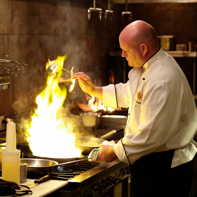 Chef Steve Grilling - Firebirds Wood Fired Grill - Raleigh, Raleigh, NC