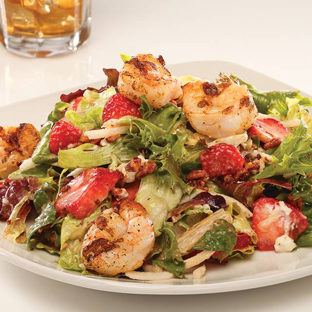 Grilled Shrimp & Strawberry Salad - Firebirds Wood Fired Grill - Chadds Ford, Chadds Ford, PA