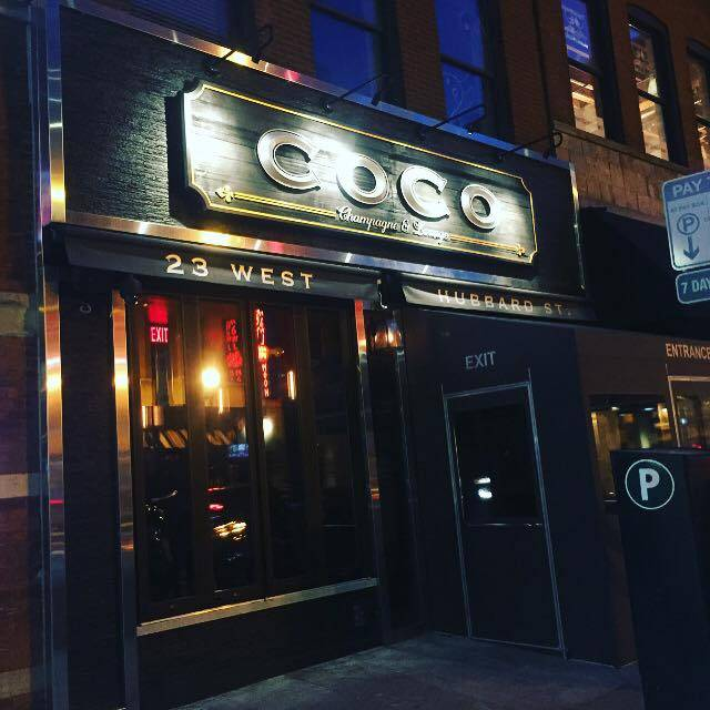 Permanently closed coco champagne lounge chicago il for 0pen table chicago