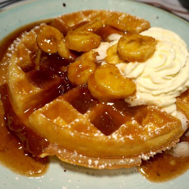 Bananas Foster Waffle - Le Moo, Louisville, KY