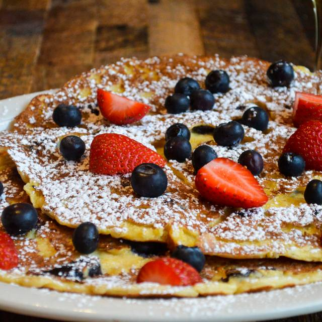 Blueberry corn pancake - French Meadow Cafe' - Grand Ave, Saint Paul, MN