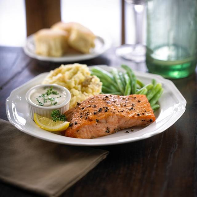 Cedar Plank Salmon - Ted's Montana Grill - NYC, New York, NY