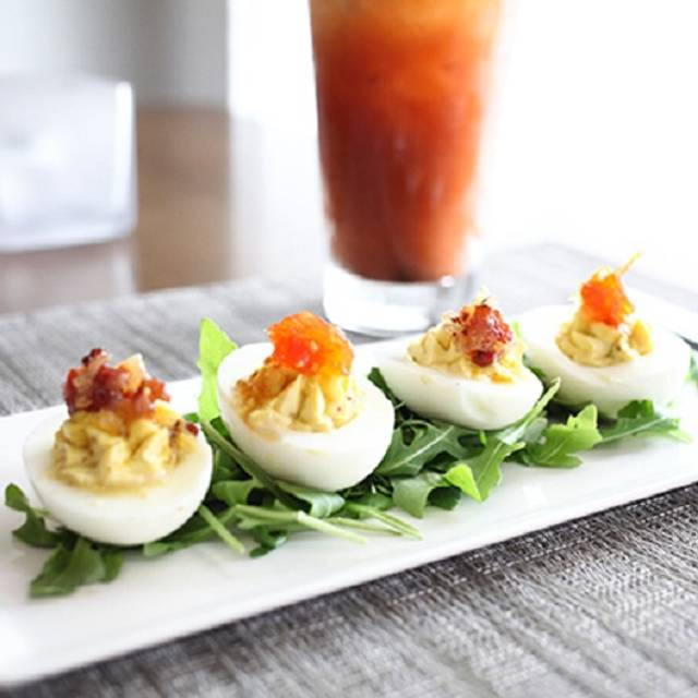 Truffle Deviled Eggs - 3 Palms Grille, Ponte Vedra Beach, FL