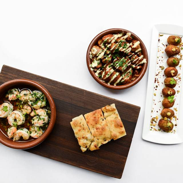 Bsud Shrimp And Snacks Liz Barclay R - Boulud Sud, New York, NY