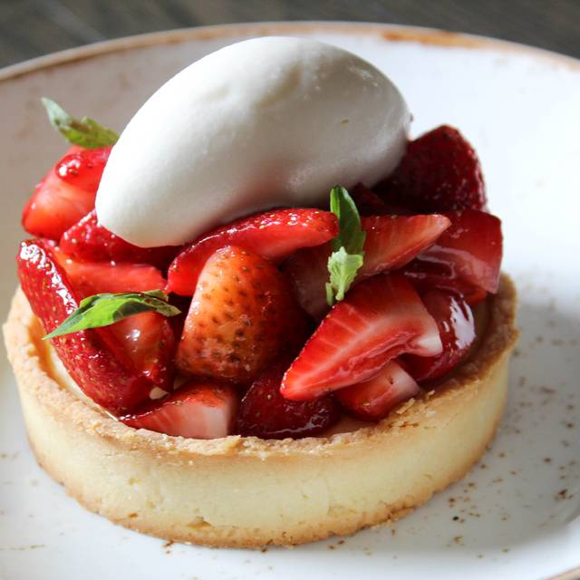 Strawberry ricotta tart - Acanto, Chicago, IL
