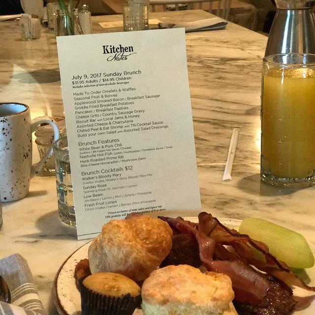 Kitchen Notes - Omni Nashville Restaurant - Nashville, TN | OpenTable