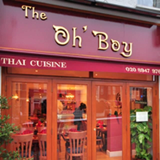 Oh Boy Thai Restaurant Garratt Lane Menu