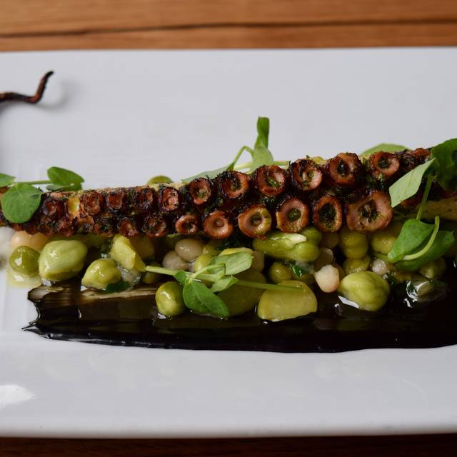 Grilled Octopus With Spring Beans & Squid Ink Aioli - Tribeca Grill, New York, NY