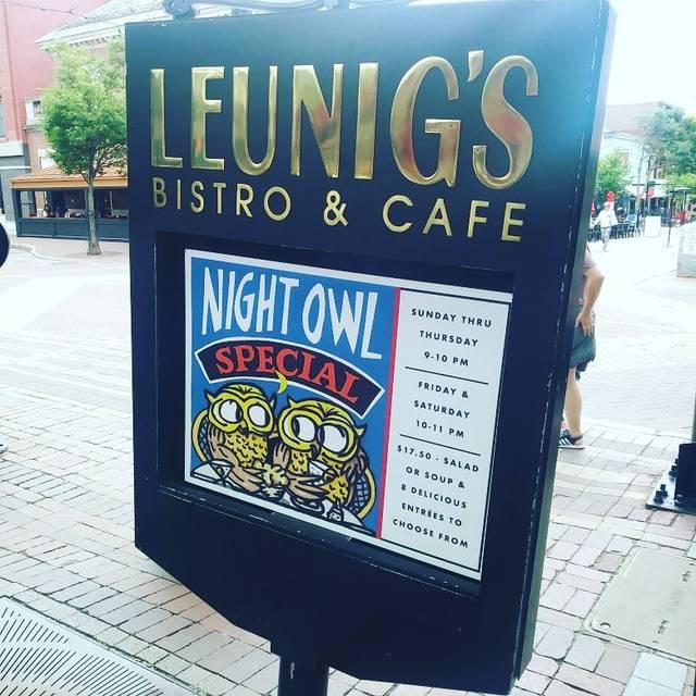 Leunig's Bistro, Burlington, VT