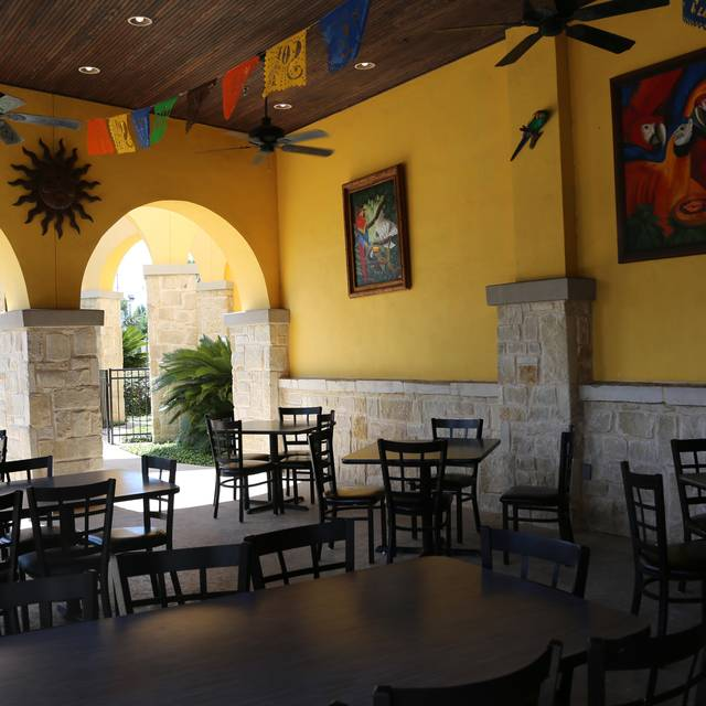Pericos Covered Patio Dining Area - Pericos-Sonterra, San Antonio, TX