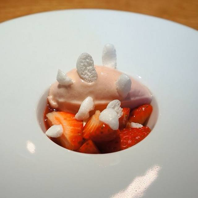 Strawberry And Rhubarb Sorbet With Meringues - Hedone, London