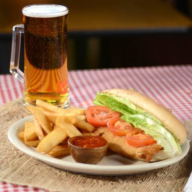 The Famous Schnitzel Sandwich  - Kings Biergarten & Restaurant, Pearland, TX