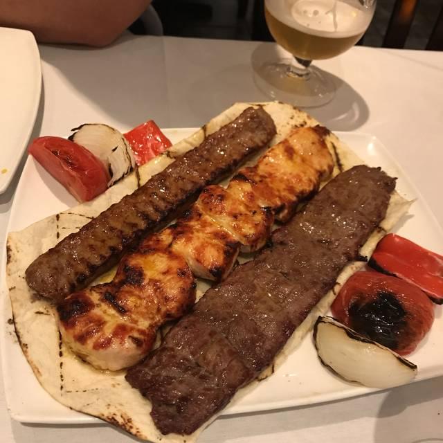 Shiraz Restaurant Elmsford Menu