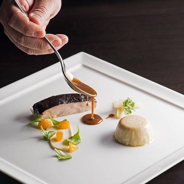poussin, foie gras flan, truffle - Acadia, Chicago, IL