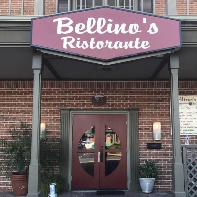 Bellino S Ristorante Italiano Corpus Christi Restaurant