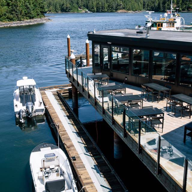 Patio View - 1909 Kitchen – Tofino Resort + Marina, Tofino, BC