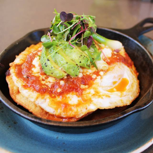 Cast Iron Huevos Rancheros - The Rooftop Grill at Montage Beverly Hills, Beverly Hills, CA