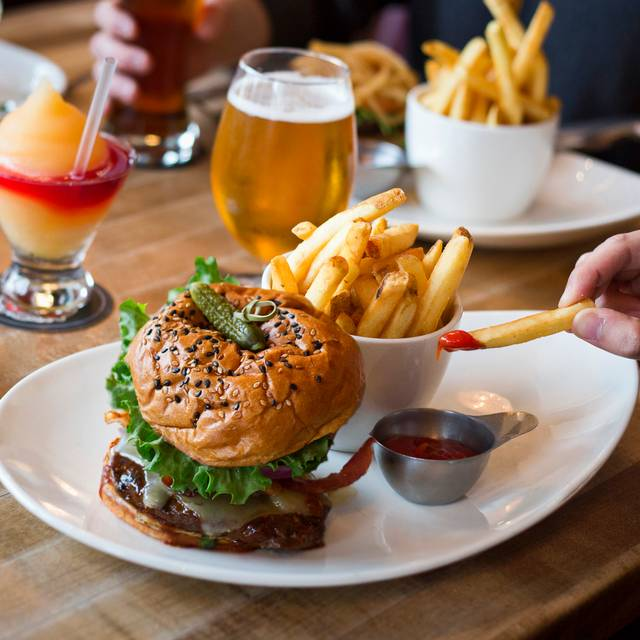 Burger And Fries - Moxie's Grill & Bar - Pickering, Pickering, ON