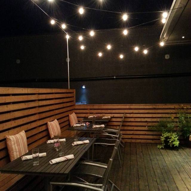Patio by Night - Pomerol, Seattle, WA