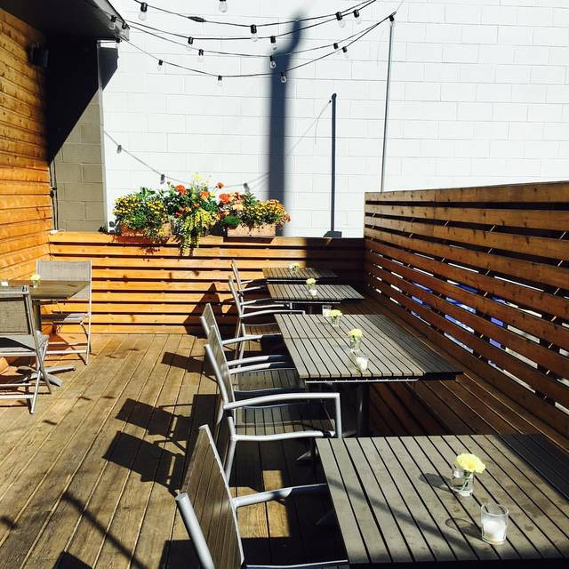 Patio by day - Pomerol, Seattle, WA