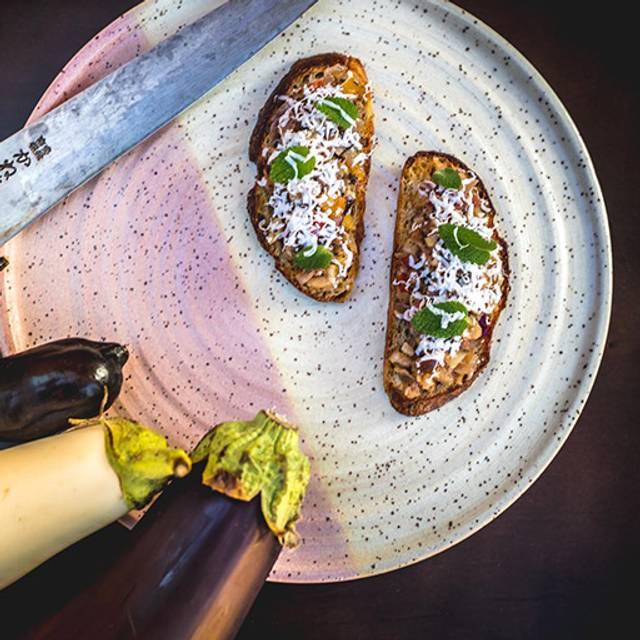 Grilled-eggplant-bruschetta - Alpina Restaurant at Villa Eyrie Resort, Malahat, BC