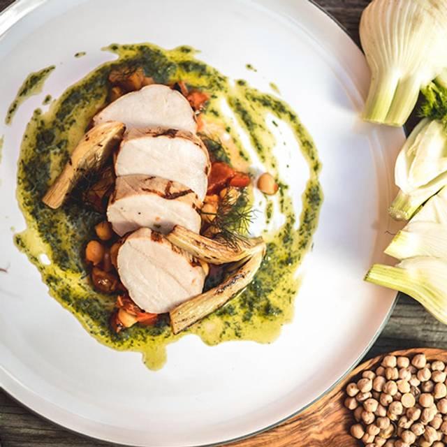 Grilled-pork-loin - Alpina Restaurant at Villa Eyrie Resort, Malahat, BC