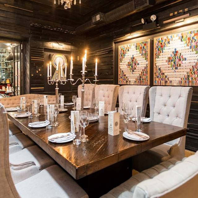 Private Dining Room Joe Miller Art Fulton Market Kitchen Chicago Il