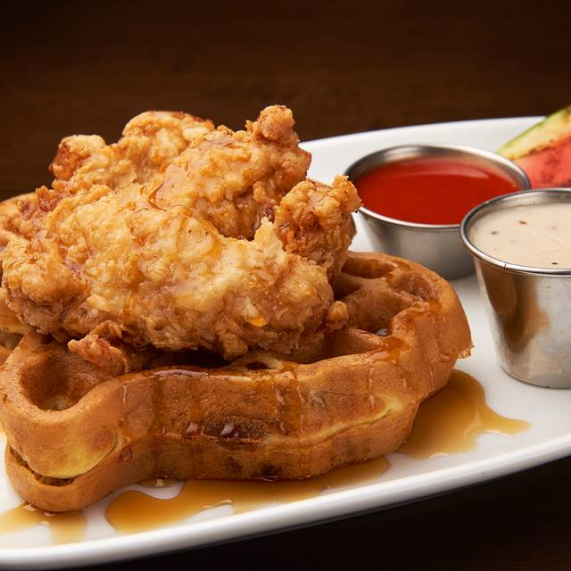Doubletree chicken waffles - 82Fifty Restaurant, Dallas, TX