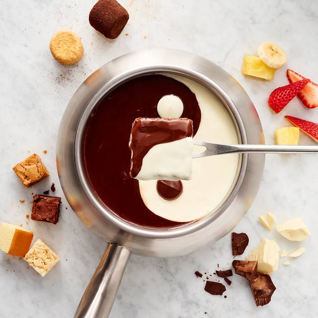 Yin Yang Chocolate Fondue - The Melting Pot - Houston, Houston, TX