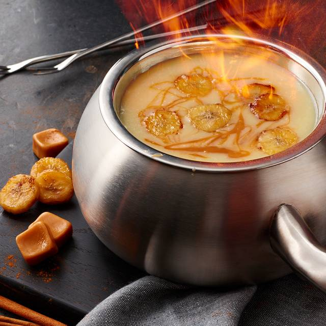Bananas Foster Chocolate Fondue - The Melting Pot - Midtown NC, Charlotte, NC