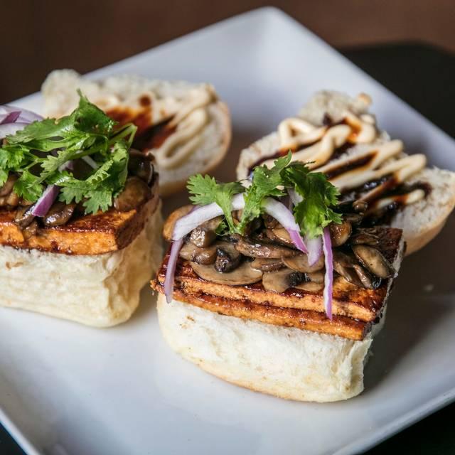 Veggie Slider: Grilled paneer and sautéed mushroom - Knee High Stocking Co., Seattle, WA