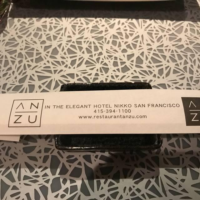 Anzu Restaurant Bar San Francisco Ca