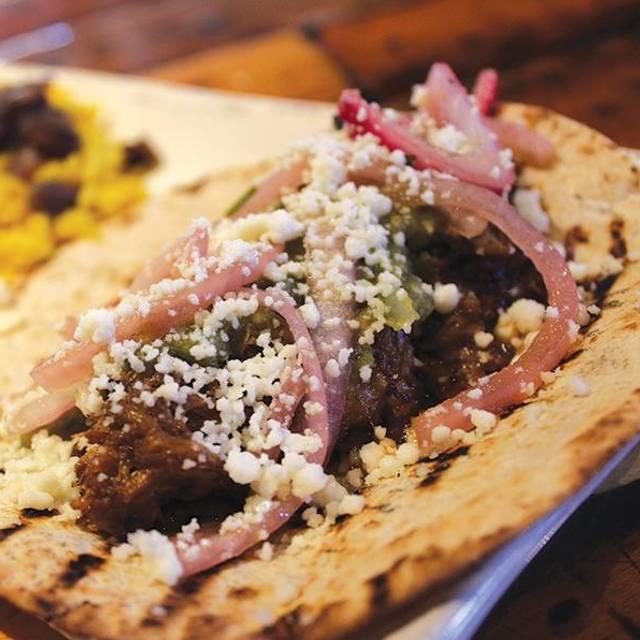 Carnitas Pork Tacos - SOL Southwest Kitchen & Tequila Bar, Charleston, SC