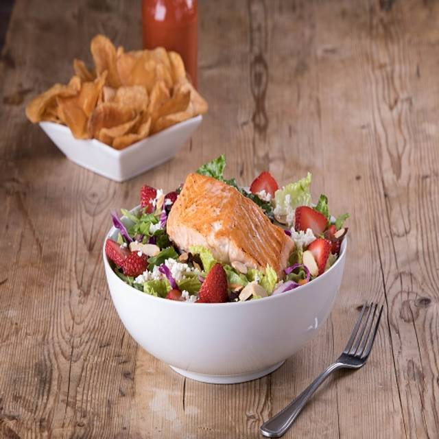 Grilled Salmon Strawberry Salad - Kings Family Restaurant - Neville Island, Pittsburgh, PA