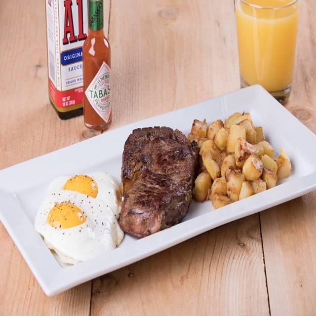 10 oz.  Ribeye Steak N  Eggs - Kings Family Restaurant - Neville Island, Pittsburgh, PA