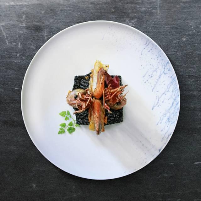 Risotto tinta de sepia, camarón patagónico - SEPIA COCINA DE MAR, Ciudad de México, CDMX